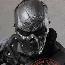 Sport Full Face Cover Protection Skull M06 Mask Cosply War Game Paintball Black