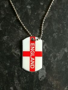 Angleterre Métal X10 St George Cross Drapeau Collier/dog Tag Football/sport Bnwt-afficher Le Titre D'origine