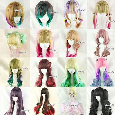 Gelockt 80cm Lolita/Harajuku Street style Cosplay Anime Wig Perücke Zopfe Dutte