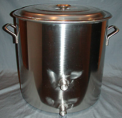 8.5 Gallon 34 QT Stainless Stock Pot Brew Boiling Kettle Home brewing Beer Mash