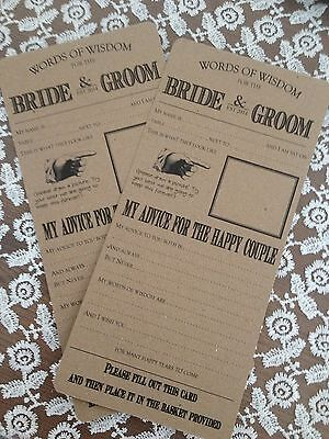 50 Vintage/Shabby Chic Wedding table game/trivia guest libs