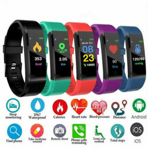 Smart-Watch-Bracelet-Heart-Rate-Blood-Pressure-Monitor-Fitness-Tracker-ID115Plus
