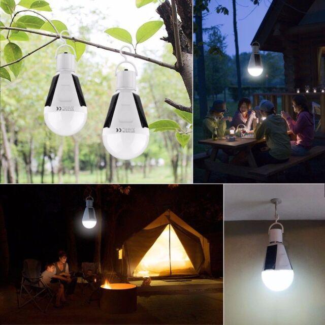 Solar Panel Ed Led Light Bulb Portable Outdoor Garden Camping Tent Lamp