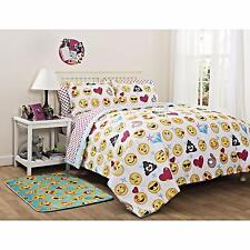 Emoticons Bedding Set Bedroom Fun Bed in Bag Emoji Comforter Full Size