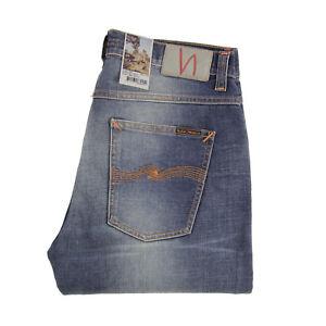 2019 DernièRe Conception Nudie Jeans, Dude Dan, Worn Well Comfort, Bleu, Organic Cotton, 112643, Neuf-afficher Le Titre D'origine