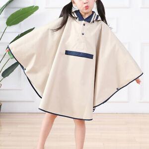 Boys Girls Raincoat Rainwear Kids Poncho Rain Cape Hooded Waterproof Kids Cloak