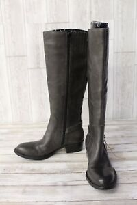 Born D78691 Leather Tall Riding Boots - Women's Size 6.5M Wide Calf Brown