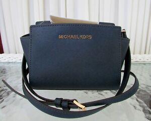 Michael Kors Selma Mini Crossbody Saffiano Leather Handbag Purse ...
