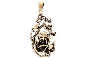 Isara Rose Pendant Bronze Symbol Jewelry - New