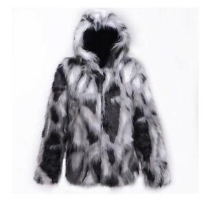 Mens-Luxury-Faux-Fur-Hooded-Coat-Furry-Warm-Thicken-Jacket-Outwear-Parka-Winter