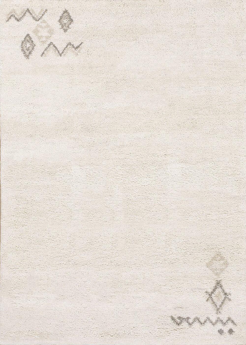 TAPPETO Berbero Rabat 140 x 200 cm con motivo 100% LANA VERGINE 15 15 Simple