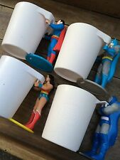 Batman Superman Superhero Comic Book Action Figure Cup Set.