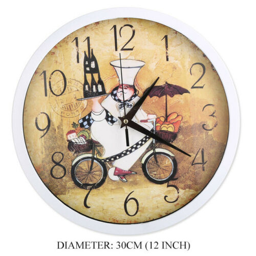 Wall Clock wall clock 12 Inch Baker Classic Kitchen Decoration Time Wall
