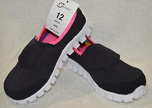 Toddler-Girl-039-s-S-Sport-Designed-by-Skechers-Slip-on-Black-Sneakers-Asst-Sizes