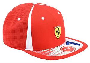 Puma Ferrari Men s SF Adjustable Sport Flatbrim Snapback Hat Cap ... 1f176a2e326