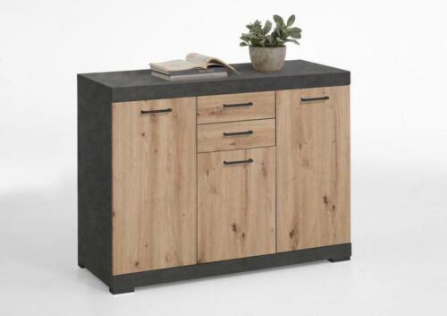 Artisan Oak BRISTOL 3 XL Kommode 3-trg von FMD Matera