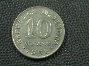 Argentinien-10-Centavos-1952-Nicht-Magnetisch-Kombiniert
