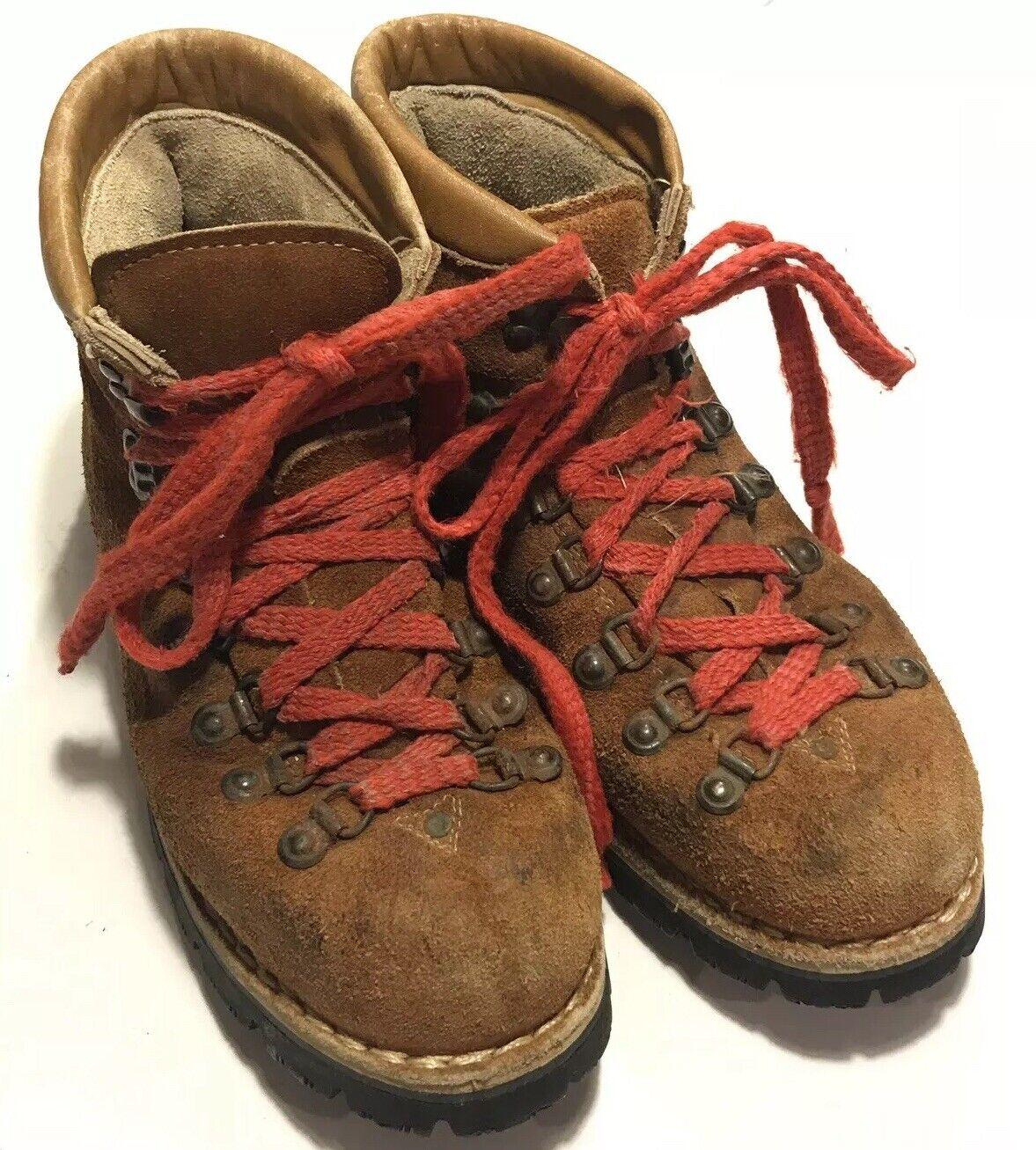 scelta migliore Vintage Hiking stivali donna 9 9.5 Marrone Marrone Marrone Tan Suede Made In  Vibrant Soles  n ° 1 online