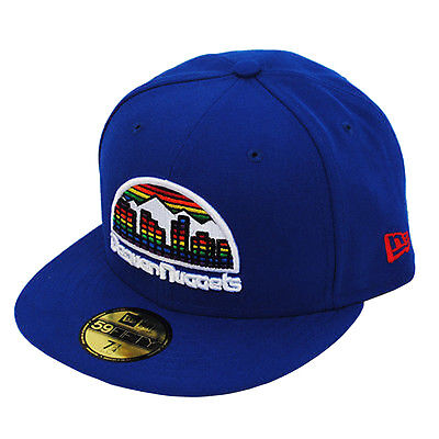 classic style new authentic factory authentic New Era 59fifty Denver Nuggets hardwood Classics Royal Blue Fitted ...