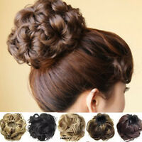 New Wave Curly Drawstring Clip In On Hair Bun Piece Updo Cover Hair Extension
