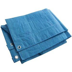 6 x 4 Ft (environ 1.22 m) Bleu Heavy Duty Étanche Bâche Bâche De Sol Feuille Camping Couverture