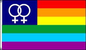 VENUS RAINBOW FLAG 3X5 gay pride  365 flags sign NEW women ... d7c5bcd9eb