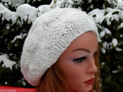 Bonnet Femmes Beanie Bonnet wollweiß Trend Ballon Casquette Hiver Automne Chic