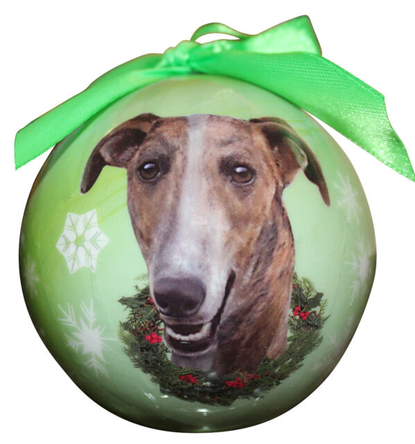 GREYHOUND CHRISTMAS BALL ORNAMENT DOG HOLIDAY XMAS PET ...