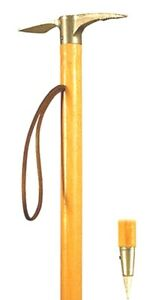 Details about Ice Axe Walking Stick Collectable Climbers Wooden Cane End  Spike Ferrule 37