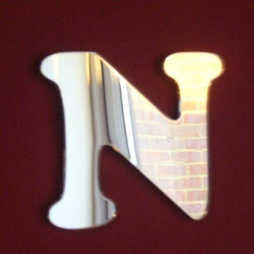 Funky lettre N en acrylique miroir plusieurs tailles disponibles