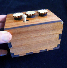 Secret Lock Puzzle Box II - Can You Open the Box?  Mahogany version -Challenging
