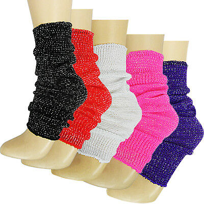 LUREX CHILDS GIRLS DANCE PARTY BALLET LEG WARMERS SOCKS AGE 4//14 FANCY SPARKLY