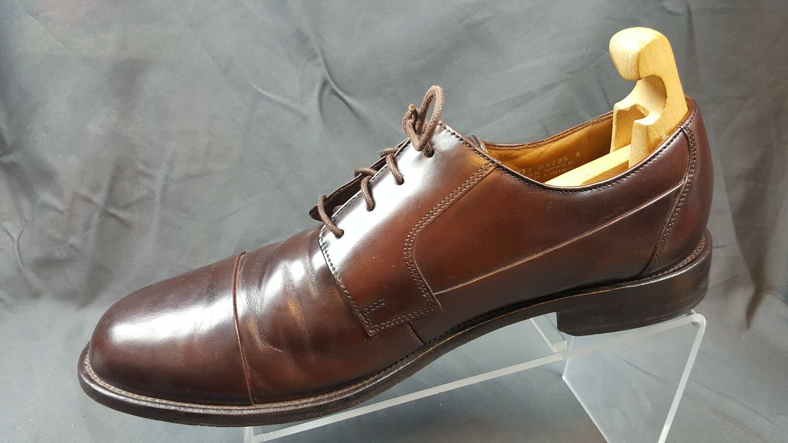 Bostonian 25033 Brown Leather Cap Toe Oxfords Men's US 12M EU 46.5