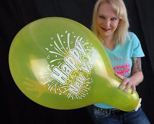 3-x-Tuftex-17-034-Luftballons-HAPPY-NEW-YEAR-SILVESTER-2017-TUF-TEX-BALLOONS