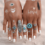 Retro-Silver-Gold-Boho-Arrow-Moon-Flower-Midi-Finger-Knuckle-Rings-12Pcs-Set thumbnail 32