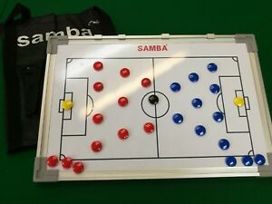 DOUBLE SIDED MAGNETIC FOOTBALL TRAINING TACTIC BOARD 45 CM X 30 CM