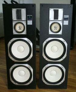 Sansui S V828u 3 Way Tower Speakers Pair Magnetically Shielded Local Pick Up Ebay