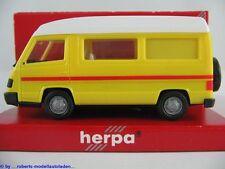 Herpa 042307 Mercedes-Benz 100 D Wohnmobil (1992) in gelb/weiß 1:87/H0 NEU/OVP