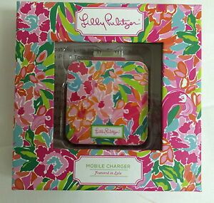 Lilly-Pulitzer-30-pin-iPhone-4-charger-Lulu-floral-print-iPod-mobile-phone-NIB