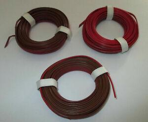 (0,397 €/m) Jumelle Lacet Rouge/marron 3 X 5 M Neuf DéLicieux Dans Le GoûT