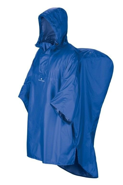 FERRINO Poncho Hiker bleu 160cm Protection Protection Protection anti-pluie capuche Sac à dos e645f6