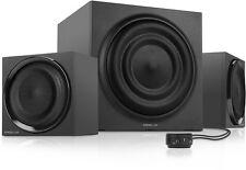 SPEEDLINK MAJESTY 2.1 Subwoofer Soundsystem, 3.5mm klinke für PC, iPhone usw.