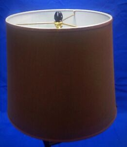 Details About 10 Top X 12 Bottom Tall Chocolate Brown Lamp Shade Made When Purchased