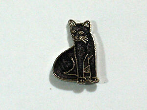 Vintage-Midnight-Bombay-Cat-Pin-Dark-Gray-or-Black-Cat-Pin