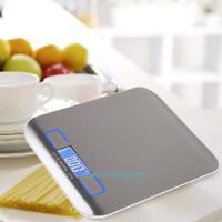 Küchenwaage Dünne Digital-Waage Briefwaage LED Touchscreen 5000g/1g Edelstahl