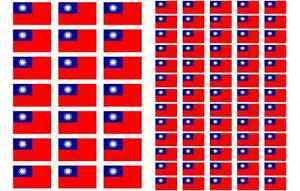 Palau Flag Stickers rectangular 21 or 65 per sheet