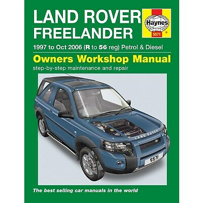 5571 Haynes Land Rover Freelander (1997 - Oct 2006) R to 56 Workshop Manual