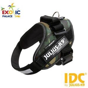 Julius-k9 Idc Powerharness Camouflage Bavoir Pour Chien Nylon