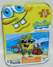 Spongebob Squarepants 50-Piece Jigsaw Puzzle in a Tin - At the Beach (Pack of 2)