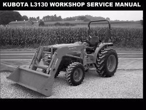 kubota l3130 tractor workshop manual 600pg of l 3130 service rh ebay ie Kubota Repair Manual kubota l3130 service manual download